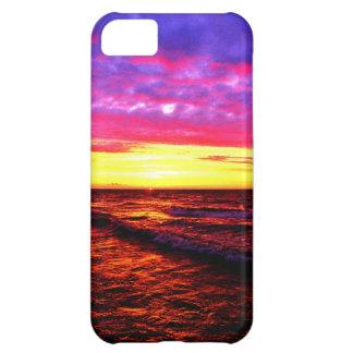 Puesta del sol sobre el lago Erie Funda Para iPhone 5C