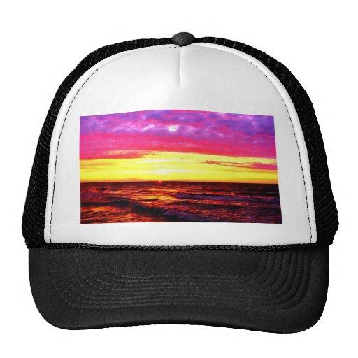 Puesta del sol sobre el lago Erie Gorras