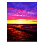 Puesta del sol sobre el lago Erie Tarjetas Postales