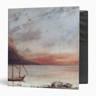 """Puesta del sol sobre el lago Leman, 1874 Carpeta 1 1/2"""""""