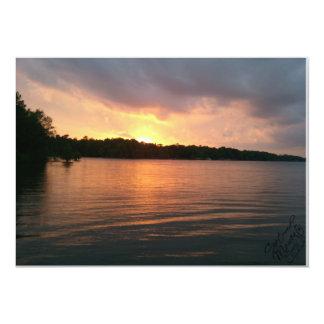 Puesta del sol sobre el lago Marion - invitación
