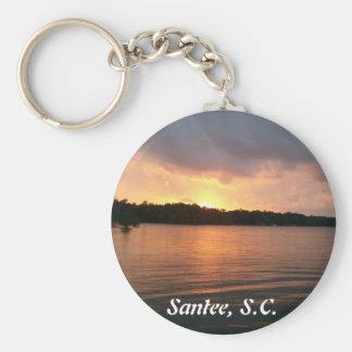 Puesta del sol sobre el lago Marion - llavero