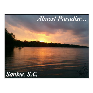 Puesta del sol sobre el lago Marion Postales