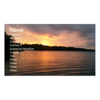 Puesta del sol sobre el lago Marion - tarjeta de v Tarjeta De Visita
