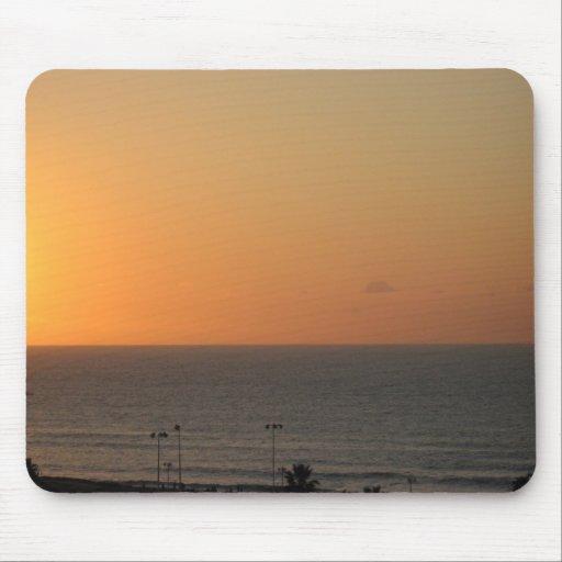 Puesta del sol sobre el mousepad mediterráneo alfombrilla de raton
