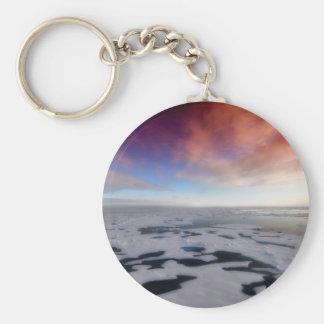 Puesta del sol sobre el Océano ártico Llavero Redondo Tipo Pin