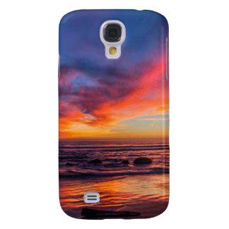 Puesta del sol sobre el Pacífico de Coronado 2 Funda Samsung S4