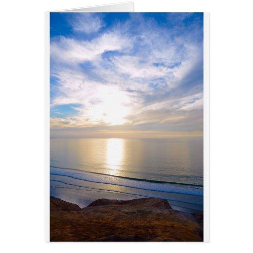 Puesta del sol sobre el Pacífico Tarjetón
