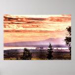 Puesta del sol sobre el poster de Anchorage