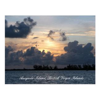 Puesta del sol sobre el punto de Pomato (título) Postales