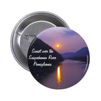 Puesta del sol sobre el río Susquehanna Pennsylvan Pin