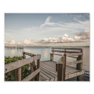 Puesta del sol sobre Ellenton la Florida - foto Cojinete
