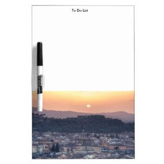 Puesta del sol sobre Florencia, Italia Pizarras Blancas