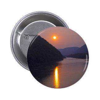 Puesta del sol sobre Hyner Pennsylvania Pin