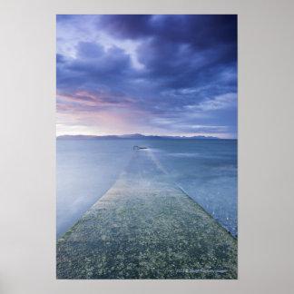 Puesta del sol sobre la bahía de Dundalk Impresiones