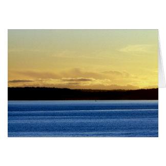 Puesta del sol sobre la isla de Bainbridge Tarjeta De Felicitación