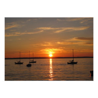 Puesta del sol sobre la isla de Lummi