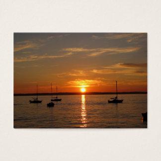 Puesta del sol sobre la isla de Lummi Tarjetas De Visita Grandes