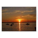 Puesta del sol sobre la isla de Lummi Tarjeton