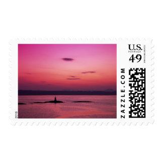 Puesta del sol sobre la isla de Skye, de Mallaig, Timbres Postales