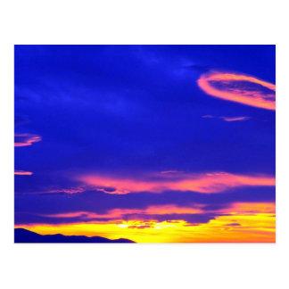 Puesta del sol sobre las colinas de Sweetgrass, Tarjetas Postales