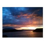 Puesta del sol sobre las montañas de Nephin Tarjetas Postales