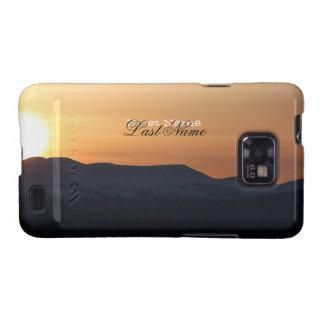 Puesta del sol sobre las montañas Nevado; Samsung Galaxy SII Carcasas