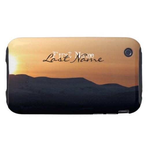 Puesta del sol sobre las montañas Nevado; Personal iPhone 3 Tough Carcasa