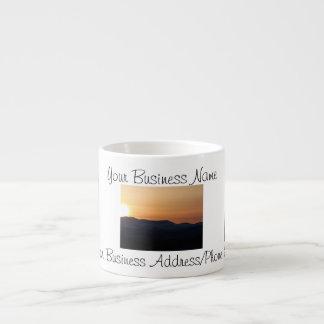 Puesta del sol sobre las montañas Nevado; Promocio Taza Espresso