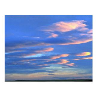 Puesta del sol sobre los prados de Montana, Tarjetas Postales