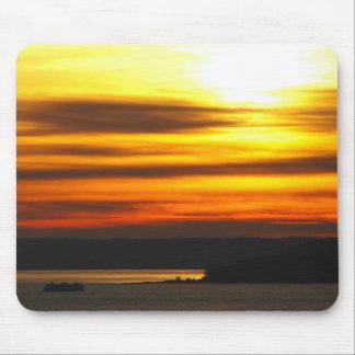 Puesta del sol sobre Puget Sound Mousepad Alfombrilla De Ratones
