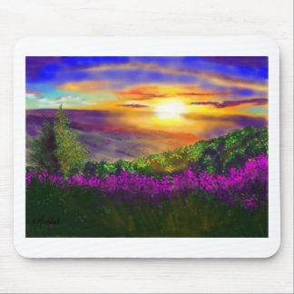 Puesta del sol sobre Rosedale Tapetes De Ratón