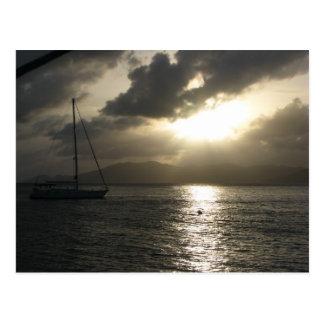 Puesta del sol sobre Tortola Tarjeta Postal