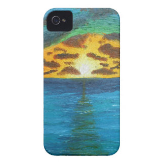 Puesta del sol sobre Waters.jpg preocupado Carcasa Para iPhone 4