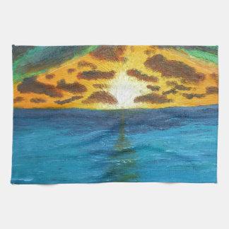 Puesta del sol sobre Waters.jpg preocupado Toallas