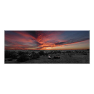 Puesta del sol sobre Yuma Posters