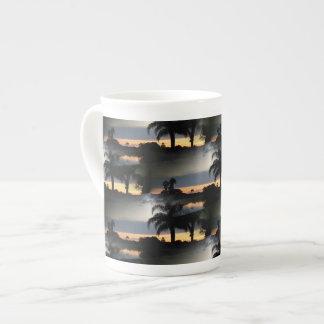 Puesta del sol soñadora de la Florida Taza De Porcelana