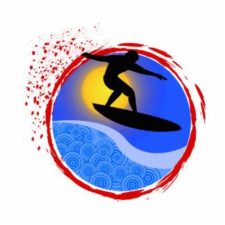 Puesta del sol Surfer.png Escultura Fotográfica