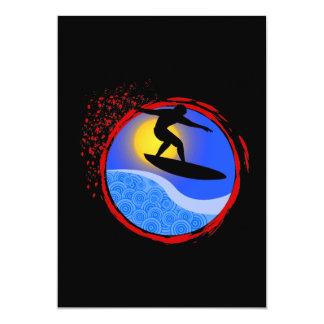 """Puesta del sol Surfer.png Invitación 5"""" X 7"""""""