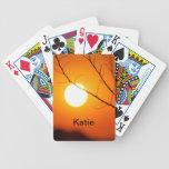 Puesta del sol suspendida baraja de cartas