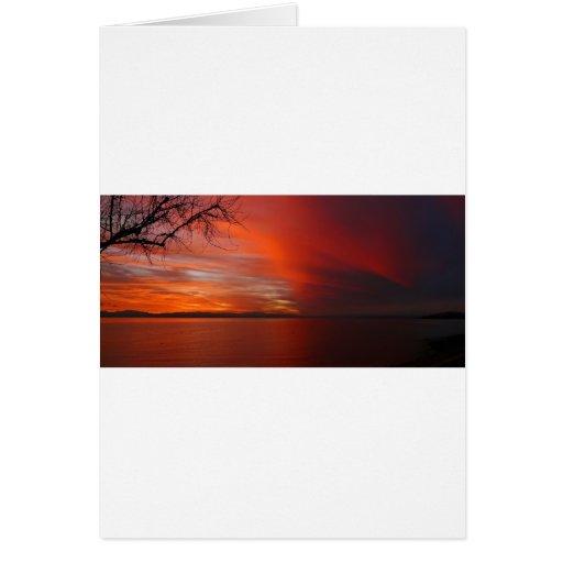 Puesta del sol tarjeta