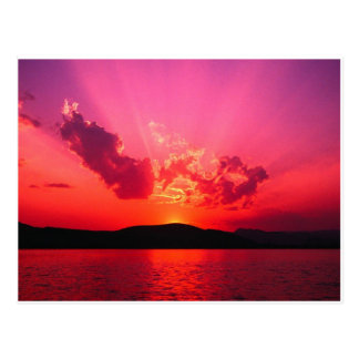 Puesta del sol tarjeta postal