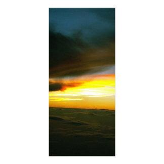 Puesta del sol plantilla de lona