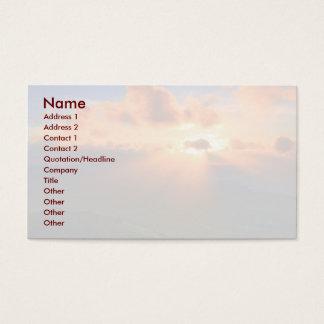 Puesta del sol tarjetas de visita