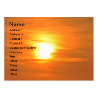 Puesta del sol tarjetas de visita grandes