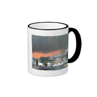 Puesta del sol tempestuosa - cuadrado de Trafalgar Taza De Café