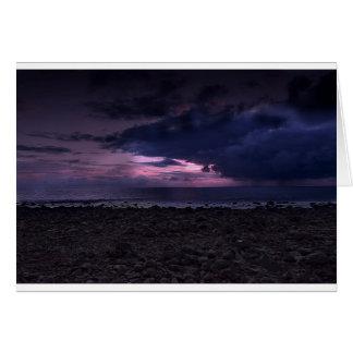 Puesta del sol tempestuosa tarjeta de felicitación