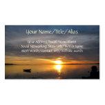 Puesta del sol tempestuosa tarjeta de visita
