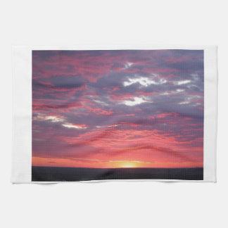 puesta del sol toallas
