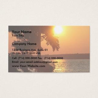 Puesta del sol (tomada de la playa Ny de Sylvan) Tarjetas De Visita